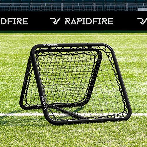 RapidFire Rebounder – Fußball Rebound Netz – neues 2020 Modell - in 3 Größen erhältlich (RapidFire 80)