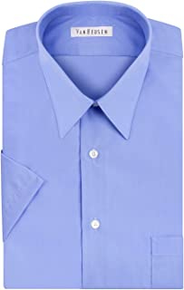 Van Heusen Men's Dress Shirts Short Sleeve Poplin Solid