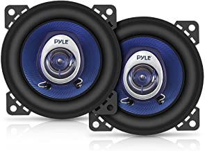 "4"" Car Sound Speaker (Pair) – Upgraded Blue Poly Injection Cone 2-Way 180 Watt.."