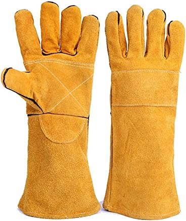 YXLAB Gloves Long Lined Welders Gauntlets Mechanic Gloves Heat Resistance Anti-Scratch Cut Resistant Perfect