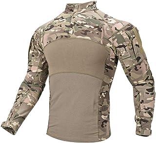 SINAIRSOFT Men's Tactical Military Combat Shirt Long Sleeve Army Camo Shirts