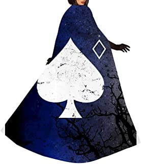Destiny 2 Ace of Spades Children's and Adults Witch Cloak Robe Cape Ghost Festival Costumes Print