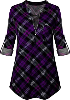 94552a8dae Amazon.com  Purples - Henleys   Tops