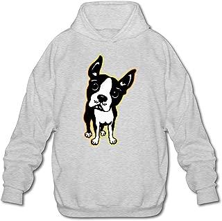 MPIQW Adult Boston Terrier Dog Hoodie Casual Pullover Hooded Sweatshirt