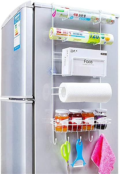 Tungchilan Refrigerator Rack Side Shelf Sidewall Holder Multifunctional Kitchen Supplies Organizer Household Multi Layer Fridge Storage Multifunctional Storage Box