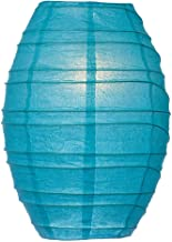 Cultural Intrigue Luna Bazaar Cocoon Premium Paper Lantern Lamp Shade (10-Inch, Turquoise Blue) - for Home Decor, Parties, and Weddings
