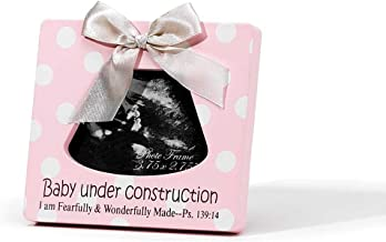 baby under construction photo frame