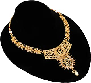 Black and White Choker Necklace Jhumka Earrings Jewellery Online