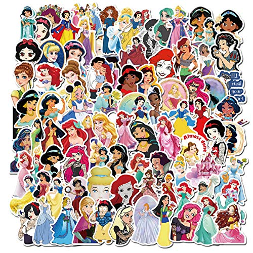Various Sweet Princess Sticker 100 PCS PVC Waterproof Stickers for Laptop Notebooks Car Bicycle Skateboards Luggage Decoration (Sweet Princess)