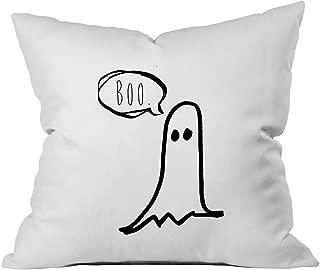 Oh, Susannah Halloween Boo Ghost Throw Pillow Cover (1 18X 18 inch, Black)
