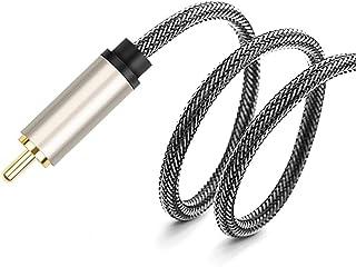 CPWJD Audio Line Audio Cable Audio Cable Output Converter Amplifier Subwoofer Single Lotus Head (Size : 10meter)