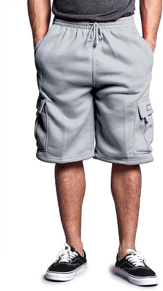 Victorious Men's Solid Fleece Cargo Shorts