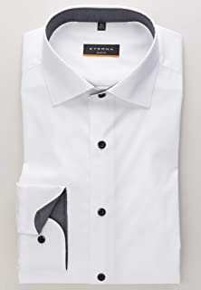 Eterna Long Sleeve Shirt Slim FIT Stretch Structured