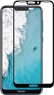 شاشة حماية بتغطية كاملة من الزجاج المقوى لموبايل هواوي هونر 8C- لون اسود