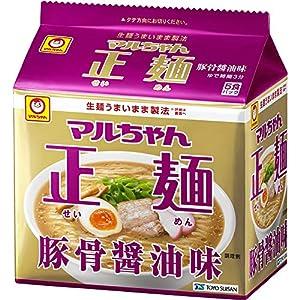 """マルちゃん正麺 豚骨醤油 5食×6個"""""""