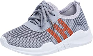 Hopscotch Boys and Girls PU and Cloth Lace Up Sneakers in Gray Color