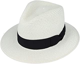 04b69a6343bf Hats of London Unisex Paper Straw Summer Panama Fedora HAT with Band and  Adjustable Sweatband Crushable