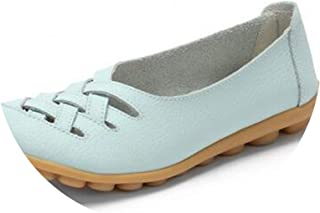 New-Loft-Breathable flat casual shoes Pig Leather Flat Superstar Big Size 34-