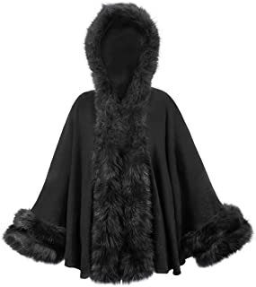 Best faux fur trim poncho cape Reviews