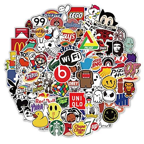 Brand Stickers 100pcs, Street Fashion Sticker, Cartoon Aesthetic Stickers,...