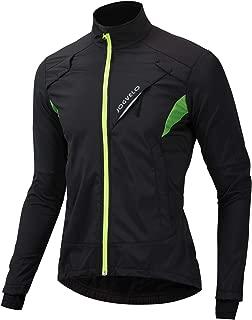JOGVELO Cycling Jacket, Winter Waterproof Cycling Mens Thermal Windproof Ultra-Light Reflective for Men Women