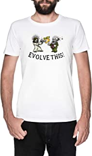Evolve This!! Blanco Camiseta Hombre Manga Corta White T-Shirt Men's