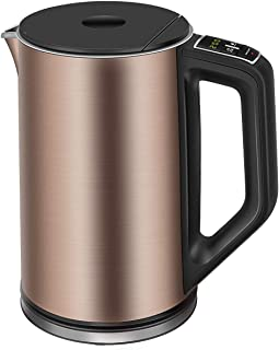 Electric Kettle, CUSIBOX 1.5L Temperature Control Tea Kettle with Keep Warm Function, Cool Touch Double Wall Stainless Steel Water Kettle, 1500W