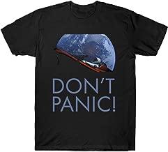 GUOHENG Men's Don't Panic Starman Funny Tshirt