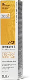 AGEbeautiful 8N Medium Blonde Permanent Liqui-Creme Hair Color 8N Medium Blonde