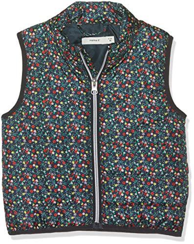 Name IT NOS Name IT NOS Baby-Mädchen Weste NMFMYLANE Vest AOP, Mehrfarbig (Dark Sapphire), (Herstellergröße: 98)