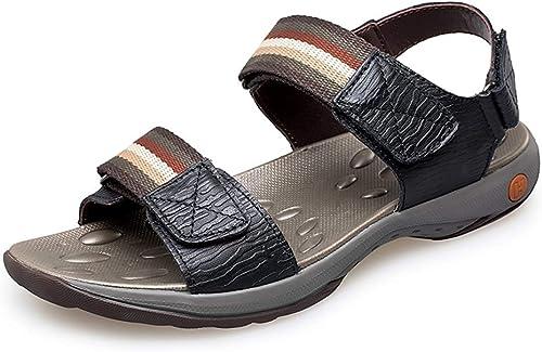 Chaussures JUJIANFU-Fashion JUJIANFU-Fashion pour Hommes Mode pour Hommes Sandales Décontracté Simple Léger Anti-dérapant été Crochet & Boucle Sangle Chaussures été Pantoufles Confortables  100% garantie de prix
