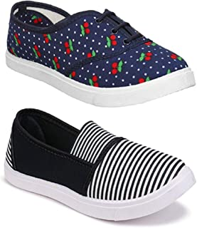 Shoefly Women Multicolour Latest Collection Sneakers Shoes- Pack of 2 (Combo-(2)-11022-763)