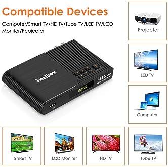 Leelbox Converter Box, 1080P ATSC Digital Tuner Box for Analog TV, Supports Recording PVR, Live TV Shows, Multimedia ...