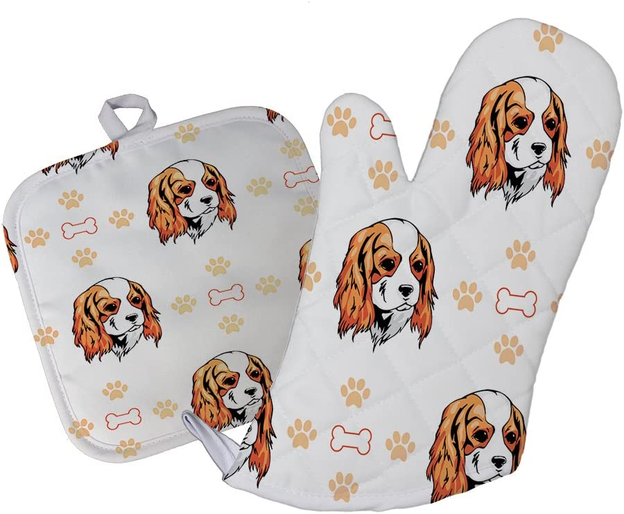 Style Baltimore Mall In Print Cavalier King Charles Free shipping on posting reviews Dog Bones Paws Spaniel Kitc