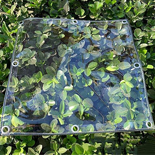 Lona Transparente para Proteger Plantas,Balcón Ventana PVC Película de lluvia,Toldo de Aislamiento de Plantas,Invernadero Cubiertas Impermeable,Poncho a Prueba de Viento,0.4mm