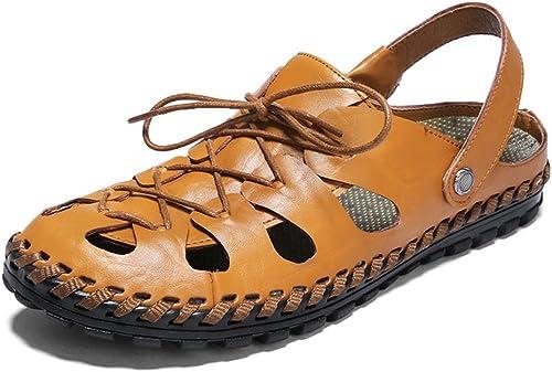 DHFUD Summer Sandales Chaussures De Plage Chaussures Creuses pour Hommes