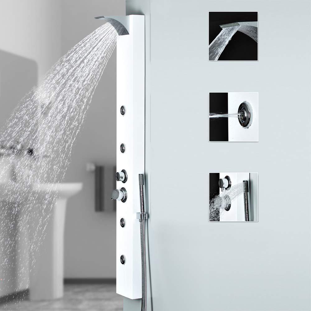 Sanlingo - Columna de ducha con salida de agua efecto cascada e ...