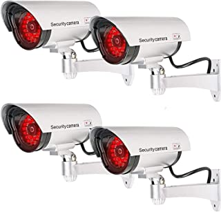 Bullet Dummy Fake Surveillance Security CCTV Dome Camera Indoor Outdoor with 30 Illuminating LED Light and Warning Securit...