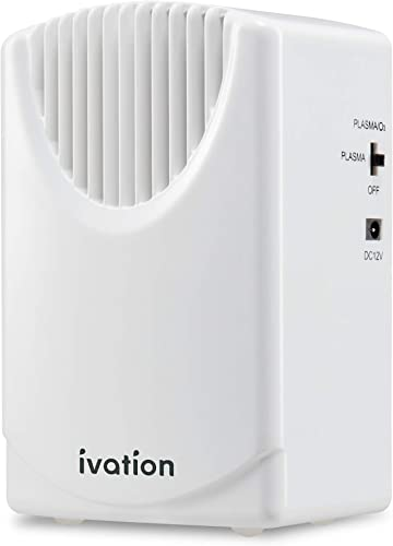 popular Ivation Vehicle online Air Cleaner Ozone high quality & Plasma Generator 300 MG/H, Air Ionizer & Odor Eradicator with Home & Car Power Cords, Eliminates Odors and Pollutants for areas Up to 2,500 Sq/Ft online