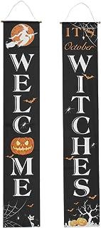 KESYOO Halloween Door Banner Trick or Treat Porch Sign Halloween Door Hanging Decoration Haunted House Prop for Halloween Party Front Door