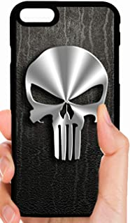 Punisher Metal Skull Logo Black Background Marvel Comics Phone Case Cover - Select Model (iPhone 5c)