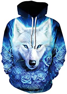 Azuki Unisex Fashion 3D Digital Printed Pullover Hoodies