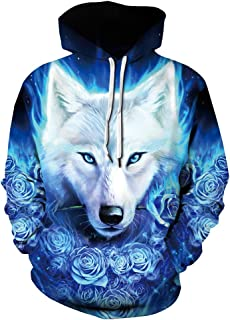 Azuki Unisex Graphic Sweatshirts Fashion Hoodies Rave Clothing Hooded Pullover Front Pockets S/XL