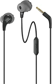 JBL Endurance Run Sweat-Proof Sports in-Ear Headphones with One-Button Remote and Microphone (Black)