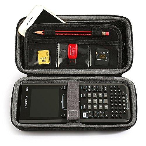 LuckyNV - Custodia protettiva portatile per Texas Instruments TI-Nspire CX/CAS Graphing Calculator & Mesh Pocket e spazio aggiuntivo per schede di memoria e penna e accessori