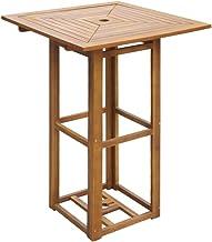 vidaXL Acacia Wood Outdoor Dining Bar Table Bistro Garden Kitchen Furniture