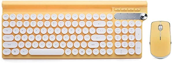 Wireless Keyboard and Mouse Combo, Long Battery Life, Compatible with Windows and Chrome OS, Yellow