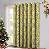 Insulated Solid Grommet top Curtains for Kitchen Aquarium-Fishes-with-Stripes-on-Floral-Composition-Background Balance Room Temperature Set of 2 Panels W96 x L72