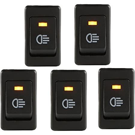 E Support 5 X Kfz Auto Boot Kippschalter Druckschalter Schalter 12v Rot Led Licht Nebelscheinwerfer Auto