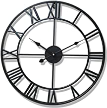 Wall Clock Wall Clock 3D 18inch (47cm) European Quartz Silent Wall Clock Without Ticking Vintage Handmade 3D Decorative,Si...